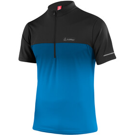 Löffler Flow Half-Zip Fahrrad Shirt Herren brilliant blue/black